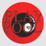 play pool gifts & greetings stickers