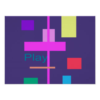 Play Prussian Blue Poster