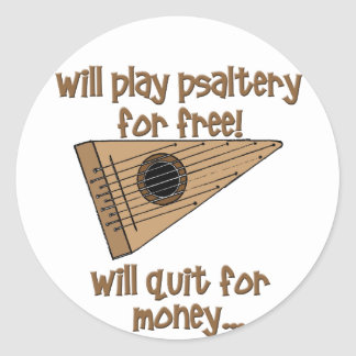 Play Psaltery For Free Classic Round Sticker