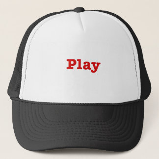 Play (red happy edition) trucker hat
