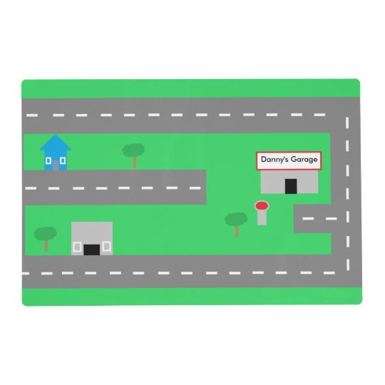 play road personalized placemat zazzle com