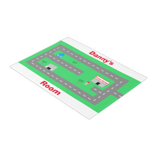 """""""Play Road"""" Personalized Playmat Doormat"""