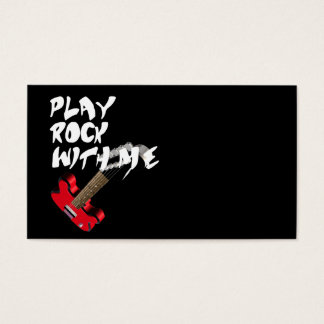 Play Rock with me Business Card