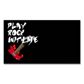 Play Rock with me Magnetic Business Card