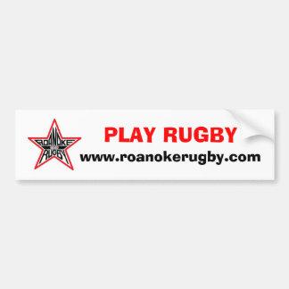 Play Rugby Bumber Sicker Bumper Sticker