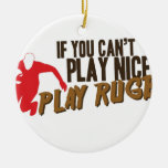 Play Rugby Ceramic Ornament