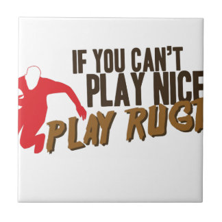 Play Rugby Ceramic Tile