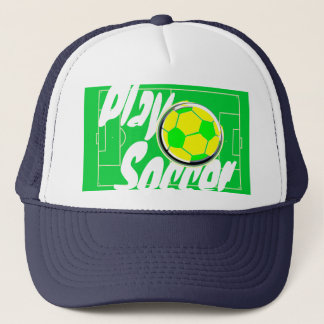 Play Soccer Ball and Field Trucker Hat