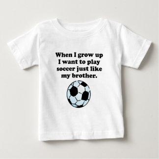 Play Soccer Like My Brother Tee Shirt