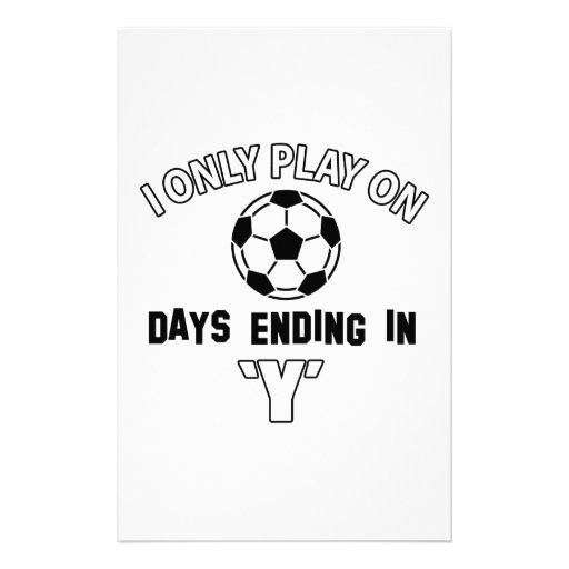 Play soccer custom stationery
