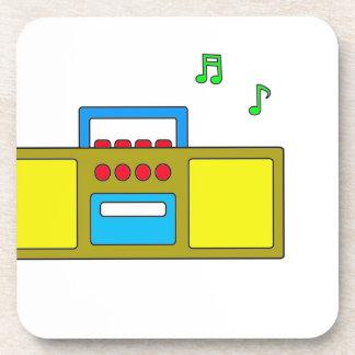 Play Song Radio Happy and Fun Beverage Coaster