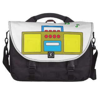 Play Song Radio Happy and Fun Laptop Commuter Bag