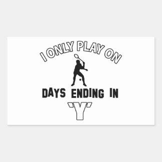 Play squash rectangular sticker