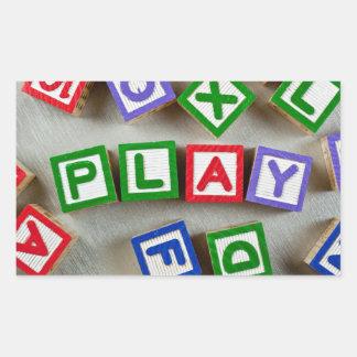 Play Rectangular Sticker