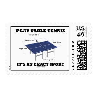 Play Table Tennis It's An Exact Sport (Humor) Postage