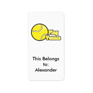 play tennis label
