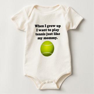 Play Tennis Like My Mommy Baby Bodysuit