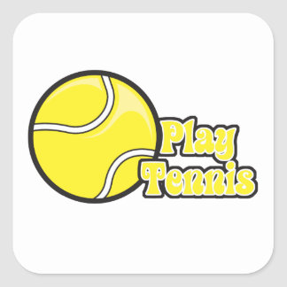play tennis square sticker