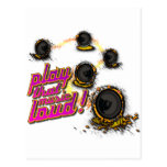Play That Music Loud - DJ Speaker Music Deejay Post Card