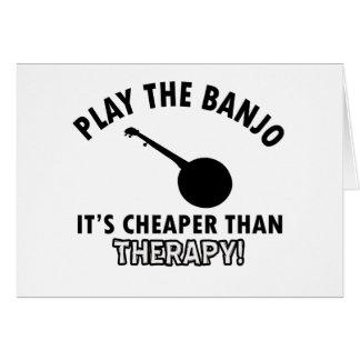Play the Banjo Card