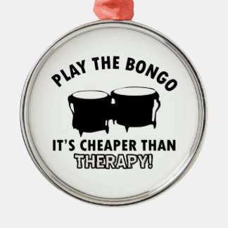 Play the   bongo metal ornament
