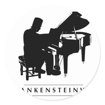 Halloween Themed Play the Frankensteinway! Classic Round Sticker