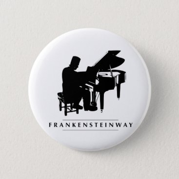 Halloween Themed Play the Frankensteinway! Pinback Button
