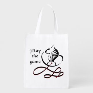 Play the GAME Bull Terrier Reusable Grocery Bag