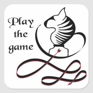 Play the GAME Bull Terrier Square Sticker