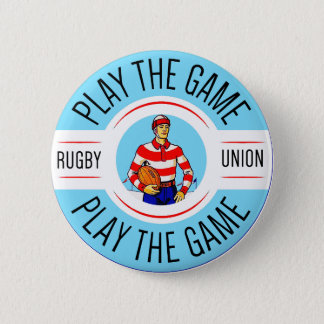 Play The Game Round Badge Pinback Button