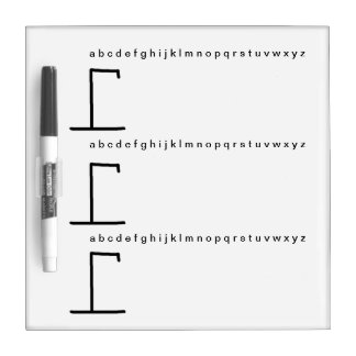 Play the hang man game dry erase board