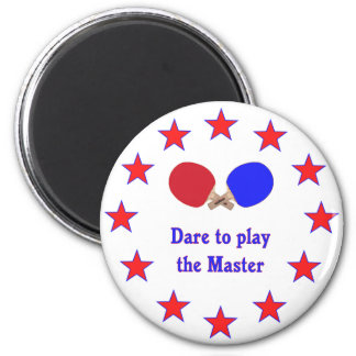 Play the Master Ping Pong 2 Inch Round Magnet