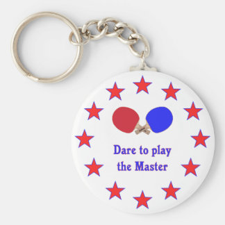 Play the Master Ping Pong Basic Round Button Keychain