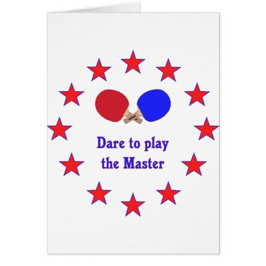Play the Master Ping Pong Card