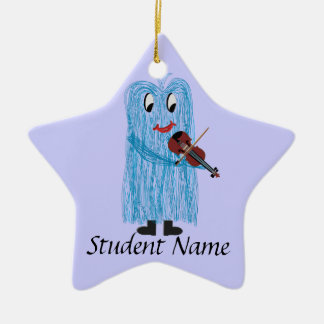 Play the Violin / Viola, Get a warm Fuzzy Feeling! Ceramic Ornament