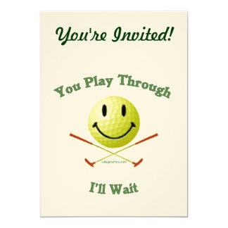 Play Through Slow Golfer 5x7 Paper Invitation Card