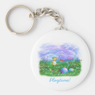 Play Time at Twisty Twicks Garden! Keychain