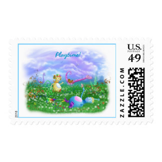 Play Time at Twisty Twicks Garden! Postage Stamps
