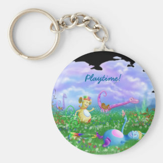 Play Time! Basic Round Button Keychain
