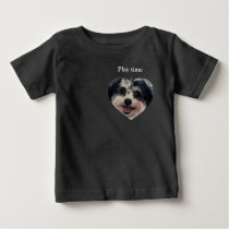 Play time cute heart Dog K-Cee photo Baby T-Shirt