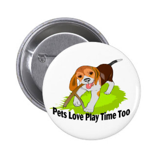 Play Time Pets 2 Inch Round Button
