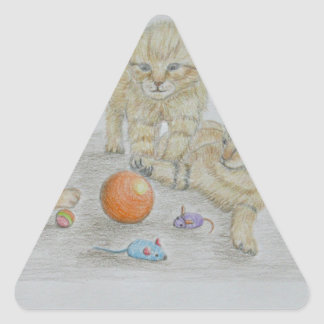 Play time triangle sticker