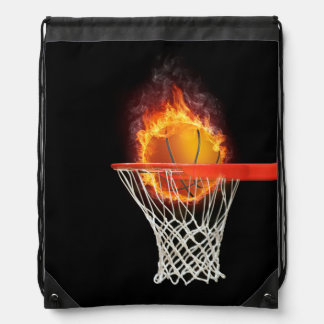 PLAY TO WIN Basketball Drawstring Backpack