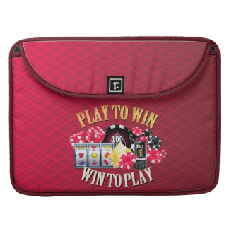 Play To Win Mac Book Sleeves Options