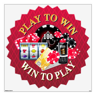 Play To Win Wall Decals Options