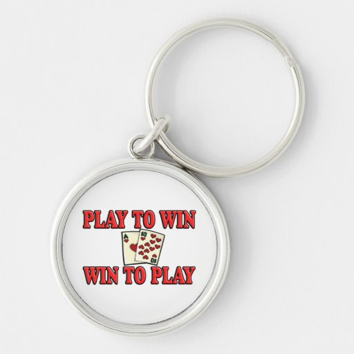 Play To Win - Win To Play - Blackjack Keychains