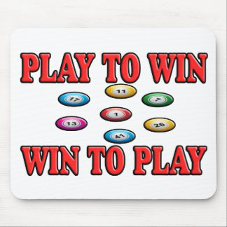 Play To Win - Win To Play - Keno Mouse Pad