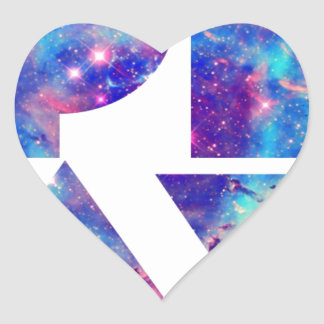 'Play' Universe Heart Sticker
