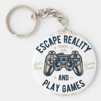 Play Video Games Keychain
