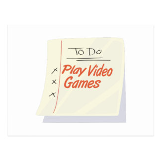 Play Video Games Postcards